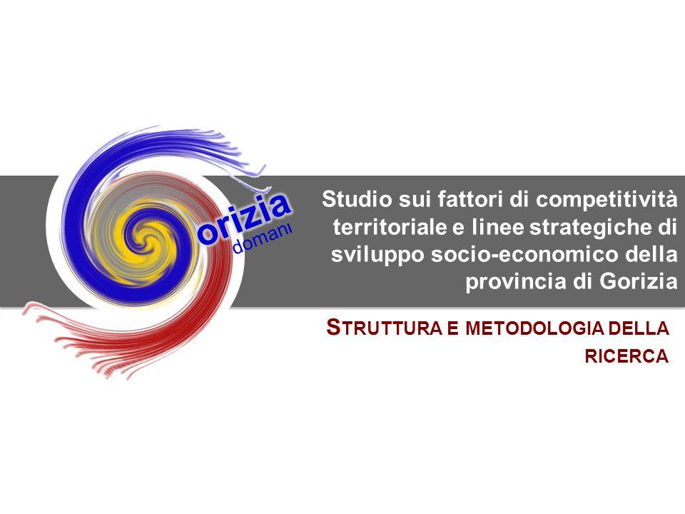0 SWG srl per la Camera di Commercio di Gorizia doman l Studio sui fattori di competitività territoriale e linee strategiche di sviluppo socio-economico della provincia di Gorizia S TRUTTURA E METODOLOGIA DELLA RICERCA