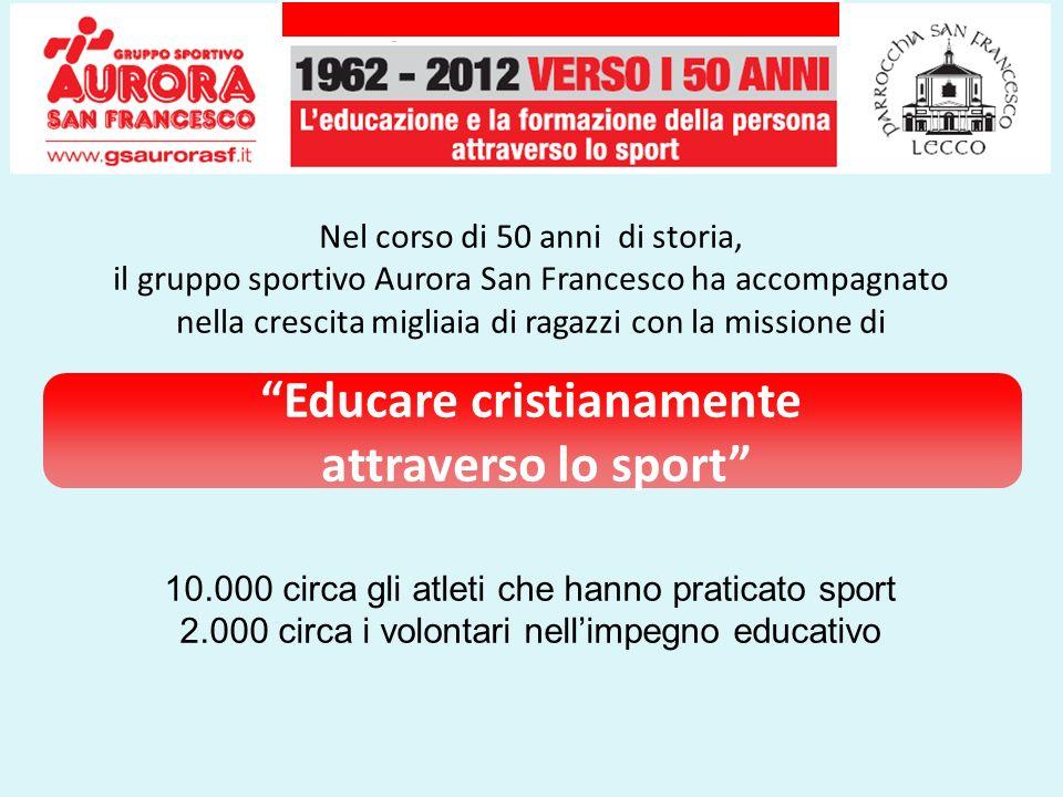 Nel corso di 50 anni di storia, il gruppo sportivo Aurora San Francesco ha accompagnato nella crescita migliaia di ragazzi con la missione di Educare