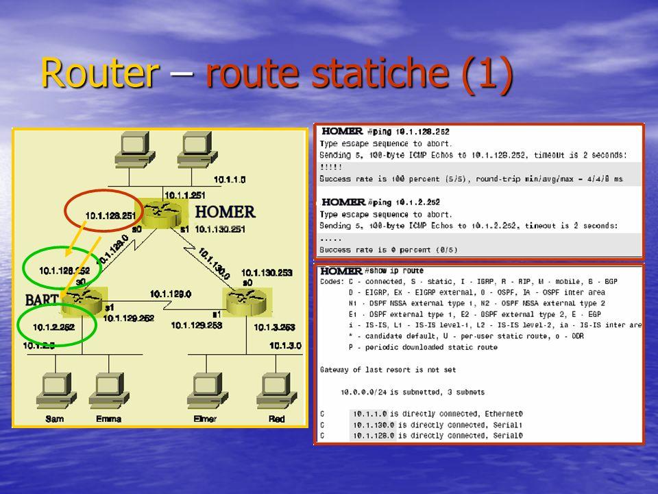 Router – route statiche (1)