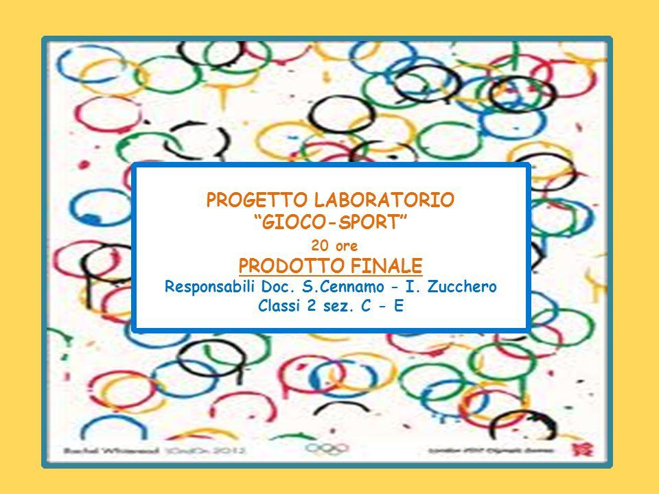 PROGETTO LABORATORIO GIOCO-SPORT 20 ore PRODOTTO FINALE Responsabili Doc. S.Cennamo - I. Zucchero Classi 2 sez. C - E