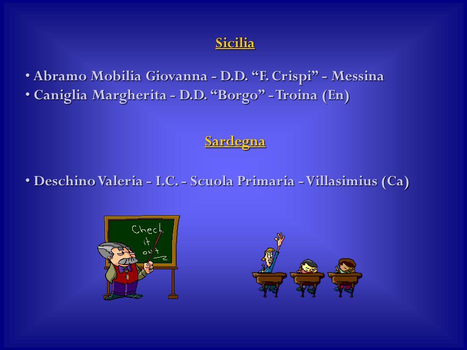 Sicilia Abramo Mobilia Giovanna - D.D. F. Crispi - Messina Abramo Mobilia Giovanna - D.D. F. Crispi - Messina Caniglia Margherita - D.D. Borgo - Troin