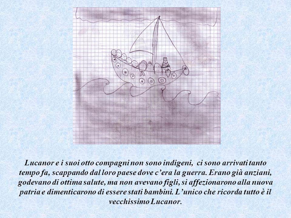 Appena il cacciatore aggiunge che gli adulti possono fare ciò che vogliono, il gabbiano sparge una polverina magica che rimpicciolisce i due isolani.