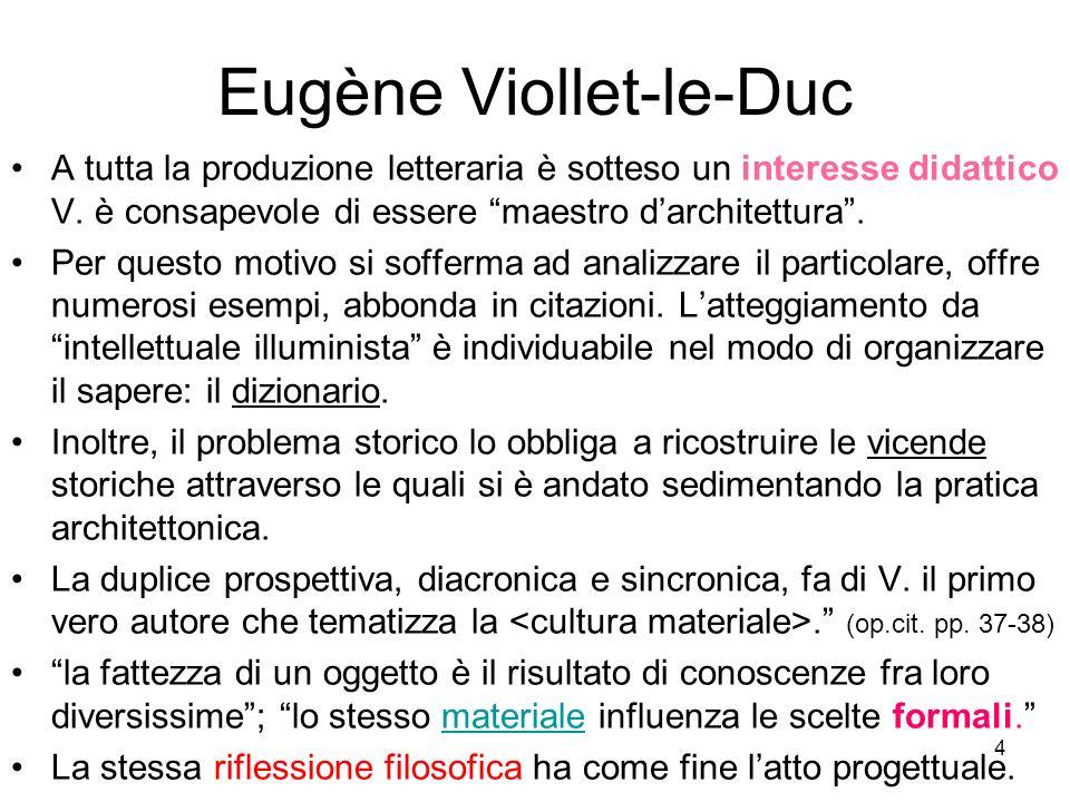 25 Eugène Viollet-le-Duc 1814-1979 Eugène Viollet-le- Duc ** RESTAURATORE: ° al posto dell.to costruttore ° meglio dell.to costruttore ° la struttura come fossile RESTAURO STILISTICO