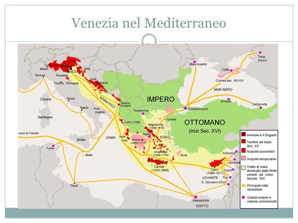 Venezia La più importante repubblica marinara fu Venezia, in Veneto; essa ebbe stretti legami con lImpero bizantino; dominò fino al XVI secolo il mare