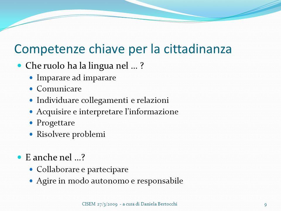 Competenze chiave per la cittadinanza Che ruolo ha la lingua nel … .