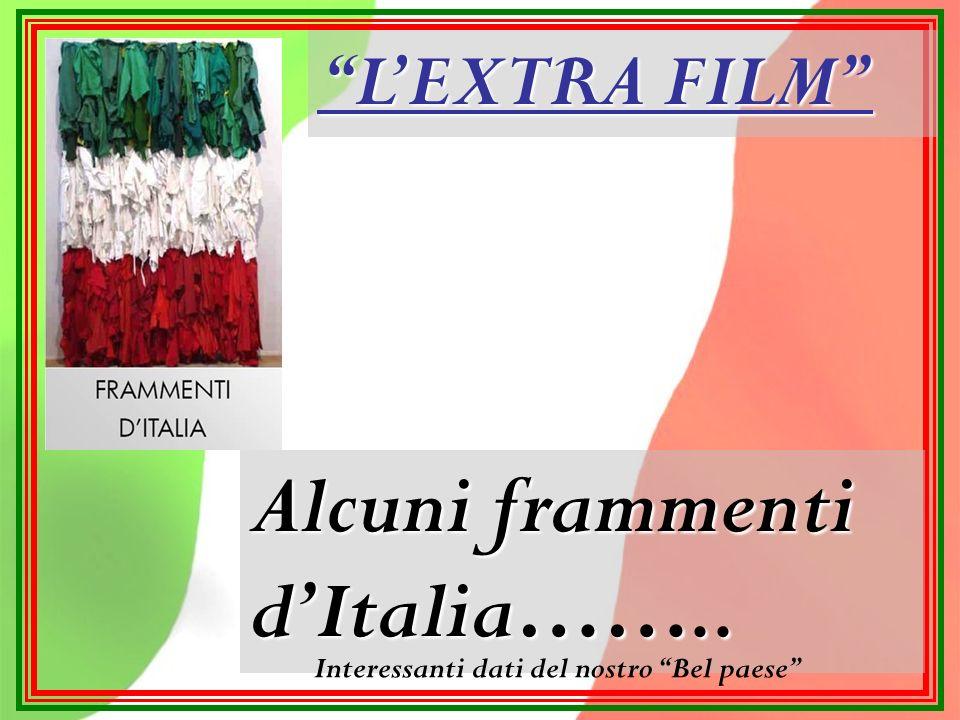 LEXTRA FILM Alcuni frammenti dItalia…….. Interessanti dati del nostro Bel paese
