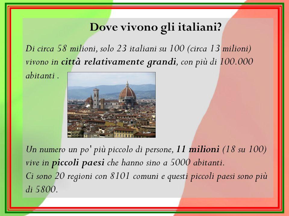 Dove vivono gli italiani.