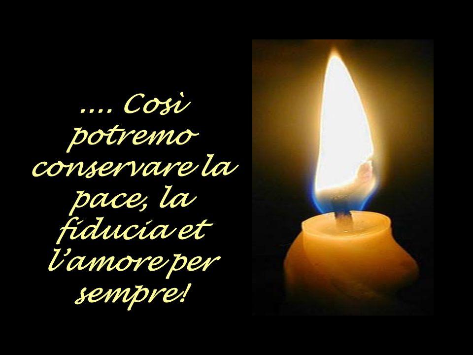 Che la fiamma della speranza sia sempre dentro di noi...