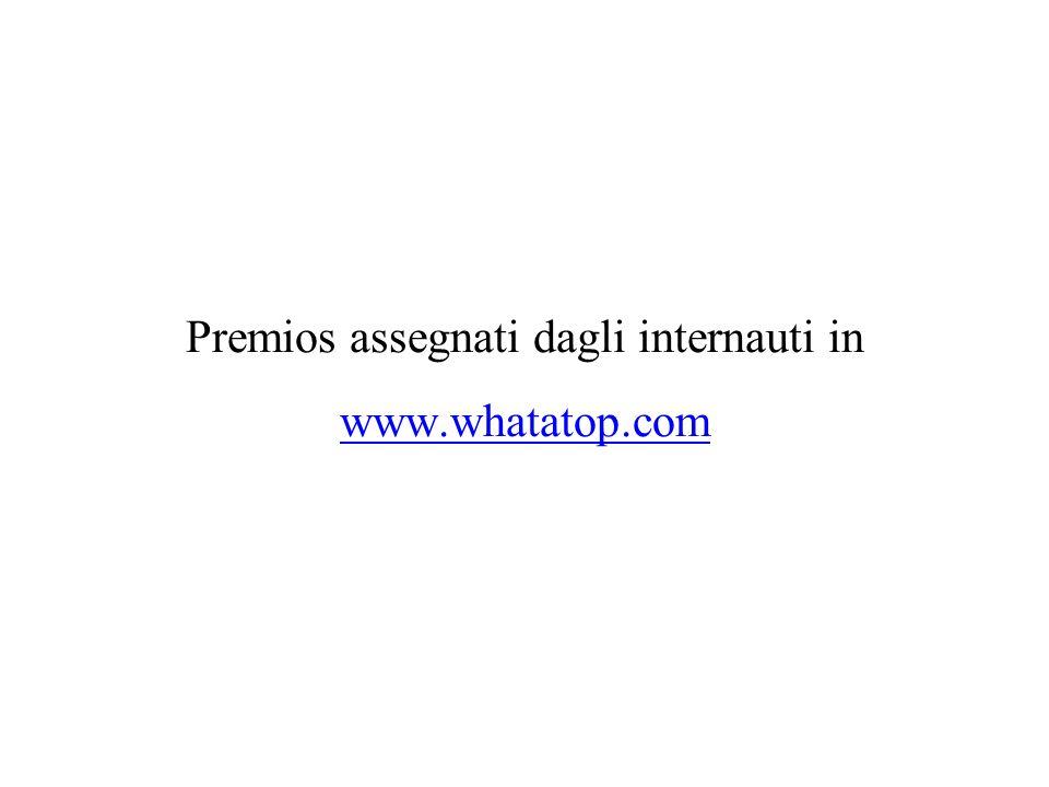 Premios assegnati dagli internauti in www.whatatop.com
