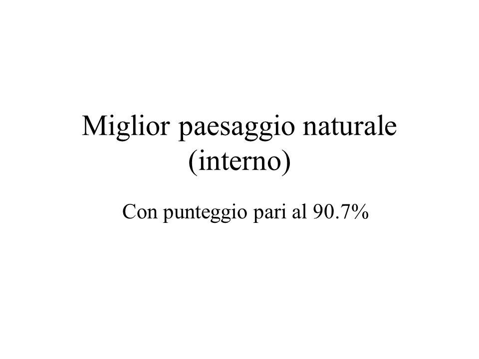 Miglior paesaggio naturale (interno) Con punteggio pari al 90.7%