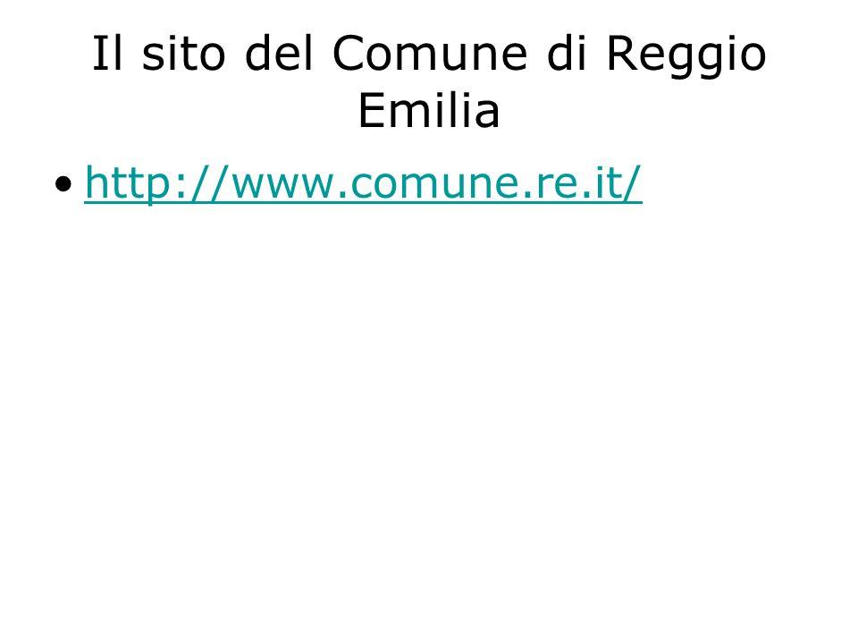 Il sito del Comune di Reggio Emilia http://www.comune.re.it/
