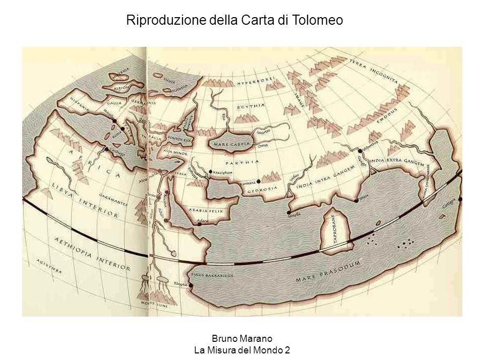 Bruno Marano La Misura del Mondo 2 Riproduzione della Carta di Tolomeo