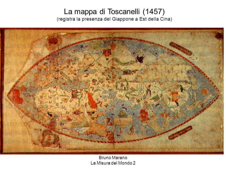 Bruno Marano La Misura del Mondo 2 La mappa di Toscanelli (1457) (registra la presenza del Giappone a Est della Cina)