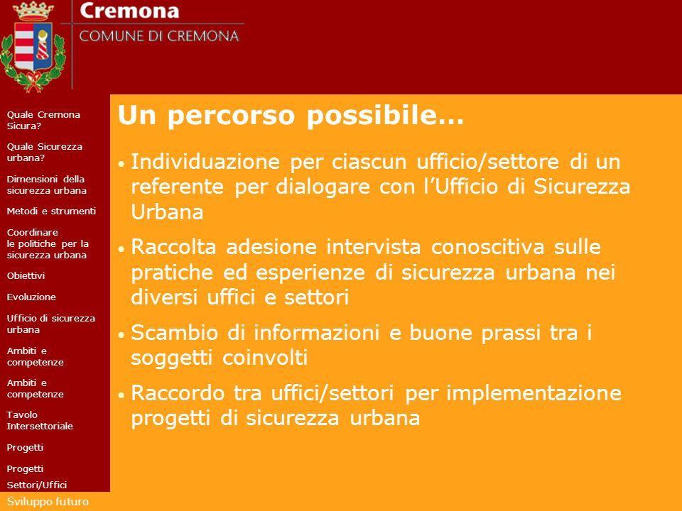 Quale Cremona Sicura. Quale Sicurezza urbana.