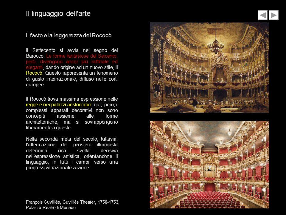François Cuvilliés, Cuvilliés Theater, 1750-1753, Palazzo Reale di Monaco Il linguaggio dell'arte Il fasto e la leggerezza del Rococò Il Settecento si