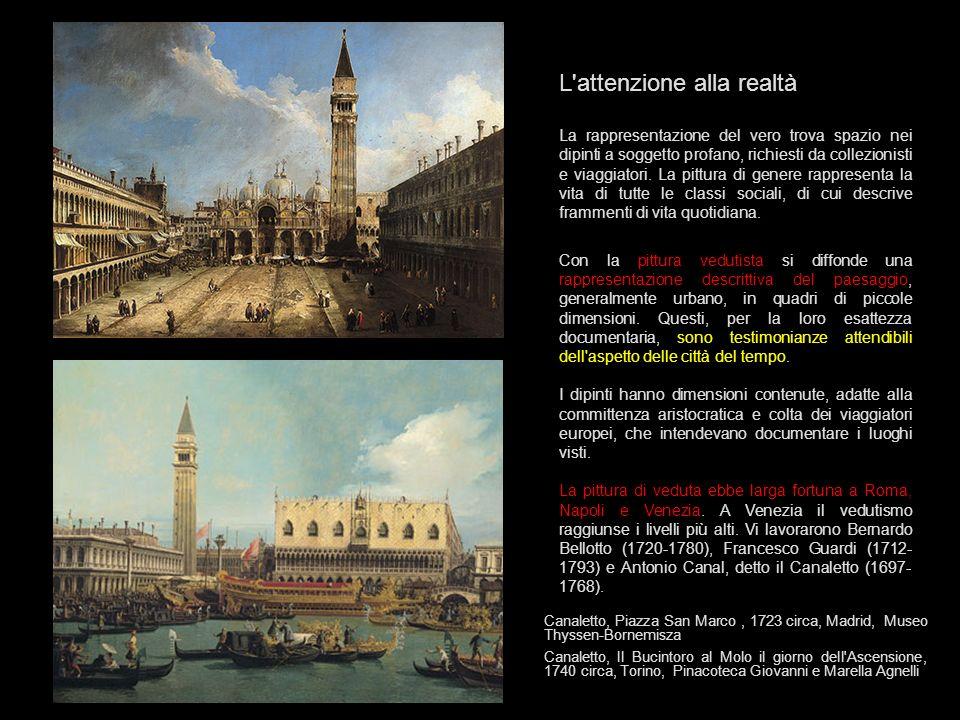 Il vedutismo Con il termine vedutismo si è soliti indicare un particolare genere pittorico nel quale si rappresentano vedute prospettiche di paesaggi o di città.