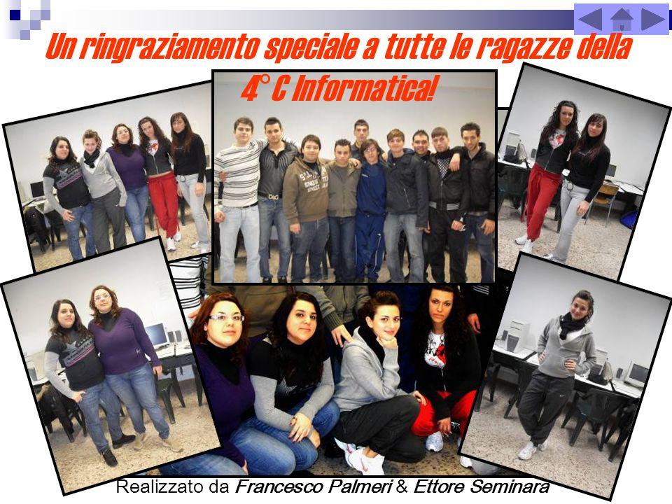 Realizzato da Francesco Palmeri & Ettore Seminara Un ringraziamento speciale a tutte le ragazze della 4°C Informatica!
