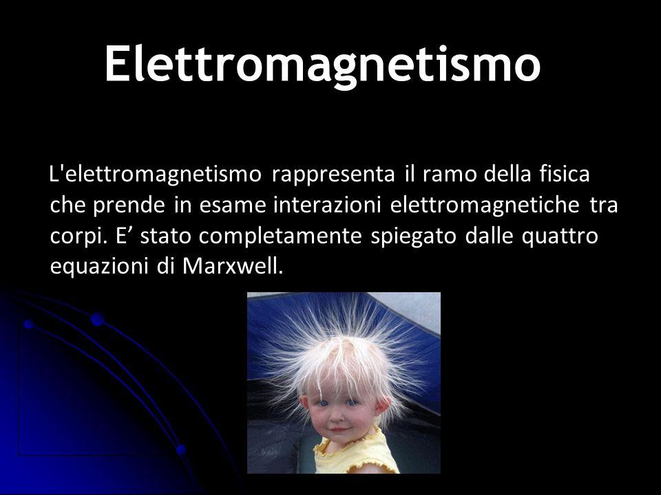 L'elettromagnetismo rappresenta il ramo della fisica che prende in esame interazioni elettromagnetiche tra corpi. E stato completamente spiegato dalle