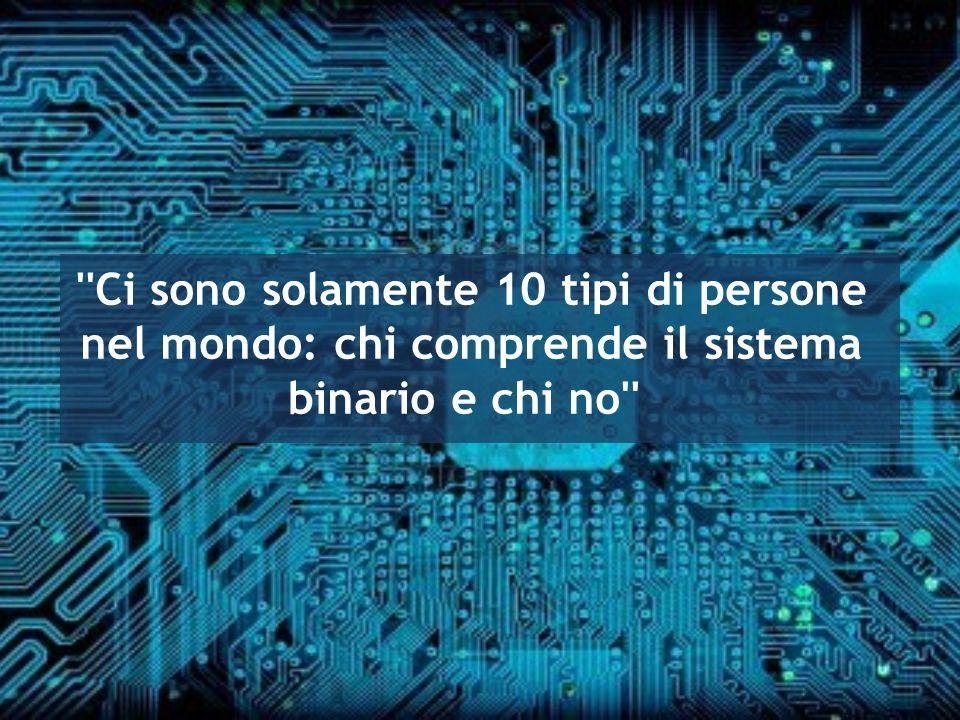 ''Ci sono solamente 10 tipi di persone nel mondo: chi comprende il sistema binario e chi no''