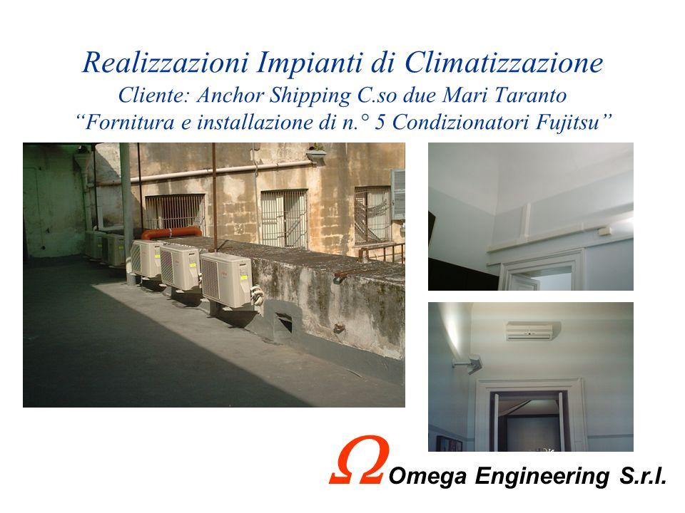 Realizzazioni Arsenale Militare Marittimo - Taranto - Omega Engineering S.r.l. ha realizzato, su commessa dellArsenale Militare Marittimo di Taranto,