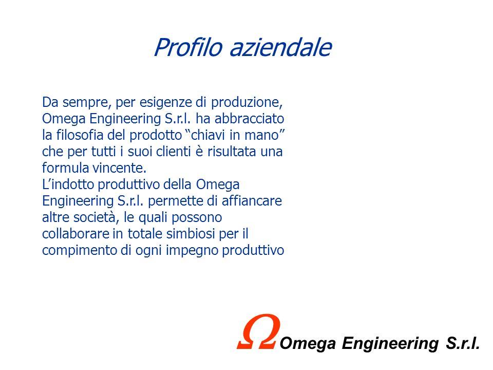 Profilo aziendale LOmega Engineering è stata fondata nel 1996 e successivamente trasformata in Omega Engineering S.r.l. La sede principale dellazienda
