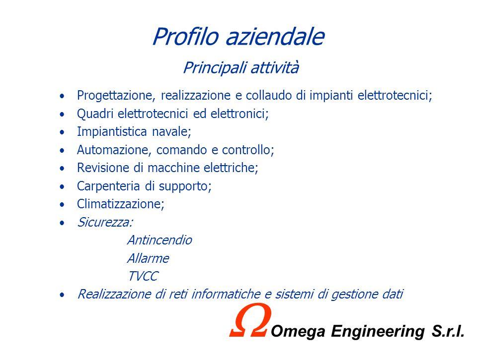 Profilo aziendale Attività nel mondo della Qualità LOmega Engineering S.r.l. ha sempre considerato ogni traguardo raggiunto un punto di partenza per c