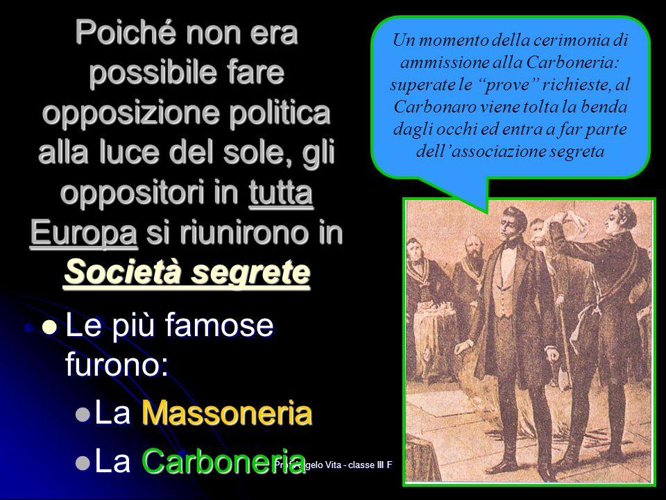 Prof Angelo Vita - classe III F La tendenza MONARCHICA Alcuni ritenevano invece che uno Stato dovesse prendere il sopravvento sugli altri.
