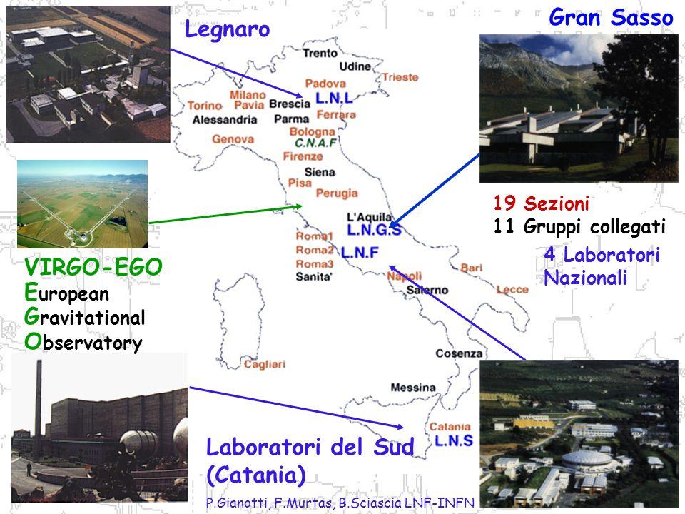 P.Gianotti, F.Murtas, B.Sciascia LNF-INFN Rivelatori: alla ricerca di tracce…