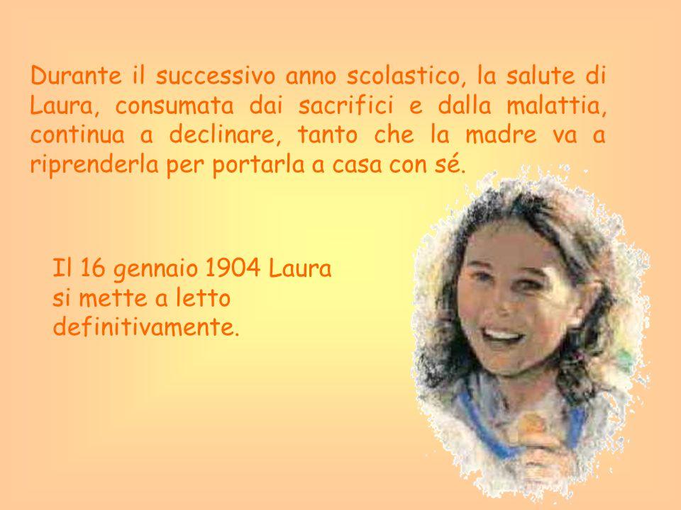 Durante il successivo anno scolastico, la salute di Laura, consumata dai sacrifici e dalla malattia, continua a declinare, tanto che la madre va a rip