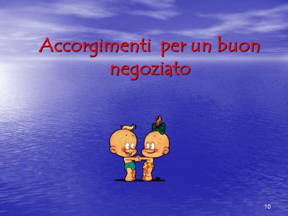 10 Accorgimenti per un buon negoziato