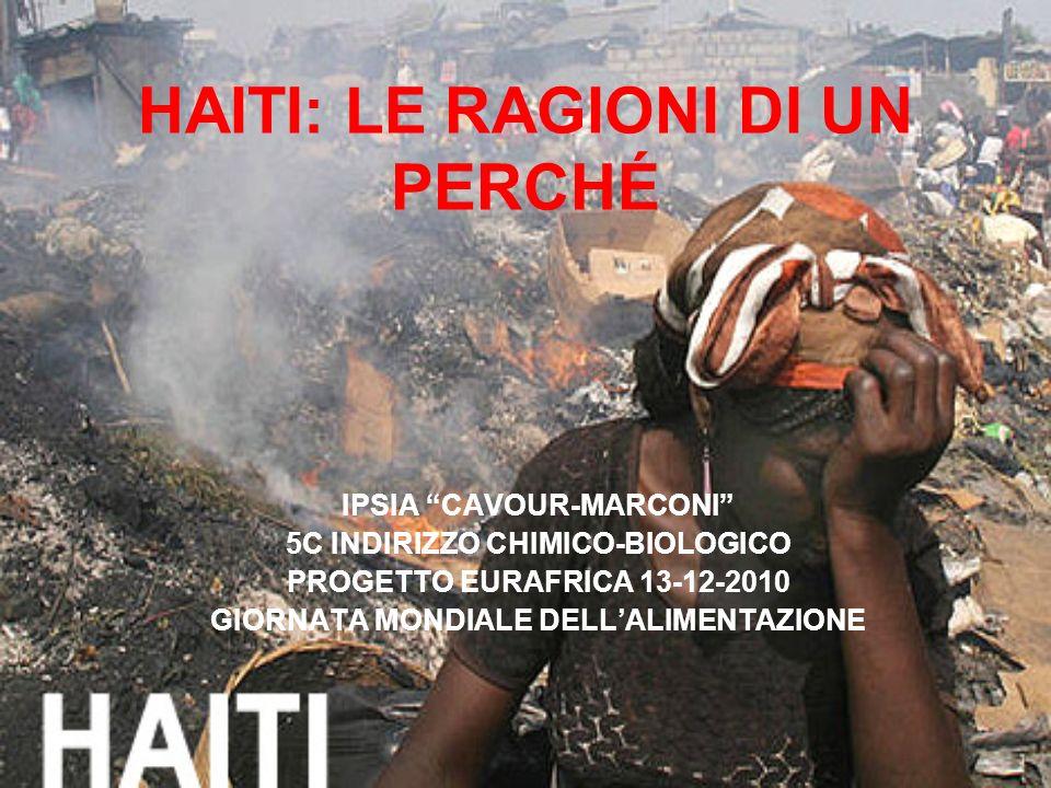 HAITI: LE RAGIONI DI UN PERCHÉ IPSIA CAVOUR-MARCONI 5C INDIRIZZO CHIMICO-BIOLOGICO PROGETTO EURAFRICA 13-12-2010 GIORNATA MONDIALE DELLALIMENTAZIONE