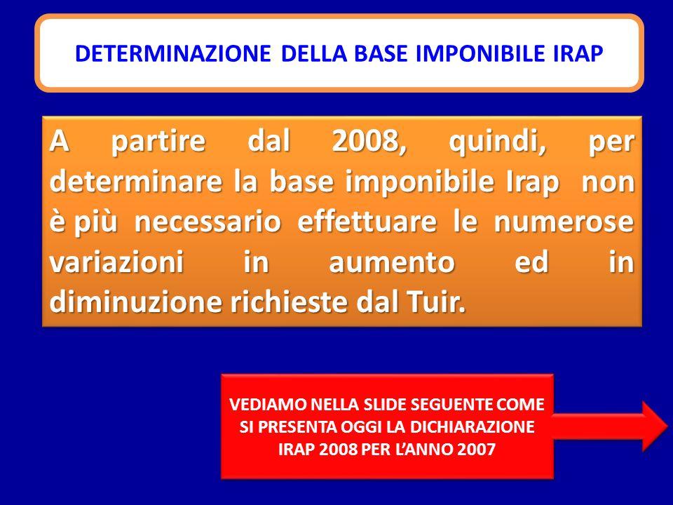 Evoluzione dellIRAP 2007 2008 Gestione statale con invio della dichiarazione Si applicano i meccanismi statali con invio della dichiarazione alla regione Si applicano i meccanismi regionali, con liquidazione ed accertamento demandati allAgenzia
