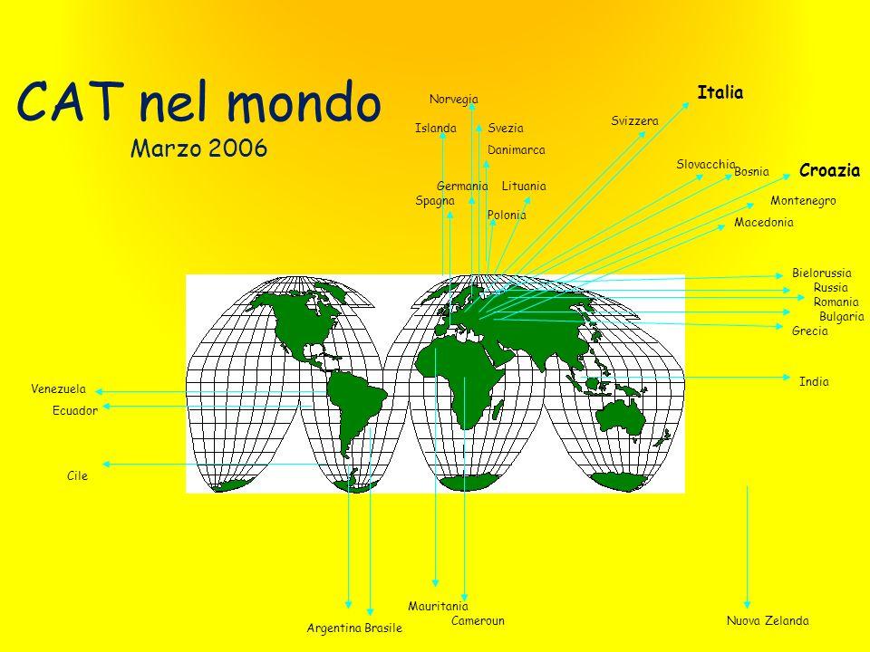 I CAT in Italia sono circa 2.050 a fine 2010 Si sono costituiti in 21 associazioni regionali (ARCAT) e 260 associazioni locali (ACAT) 233 153 6 114 50 170 15 535 273 175 12 28 36 80 10 11 30 50 15 32 Ennio Palmesino 22