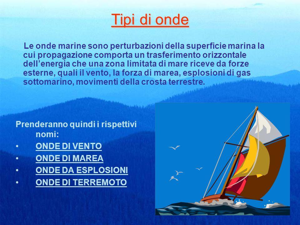 Tabelle del mare vivo,del mare morto e delle caratteristiche delle onde