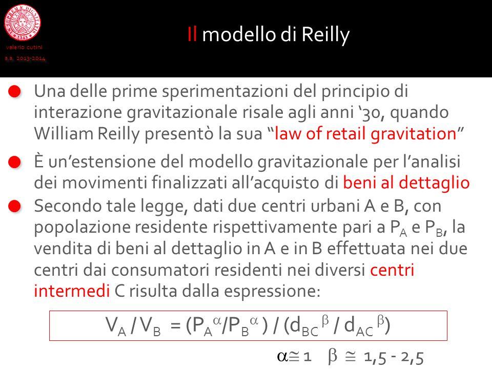 valerio cutini a.a. 2013-2014 Una delle prime sperimentazioni del principio di interazione gravitazionale risale agli anni 30, quando William Reilly p