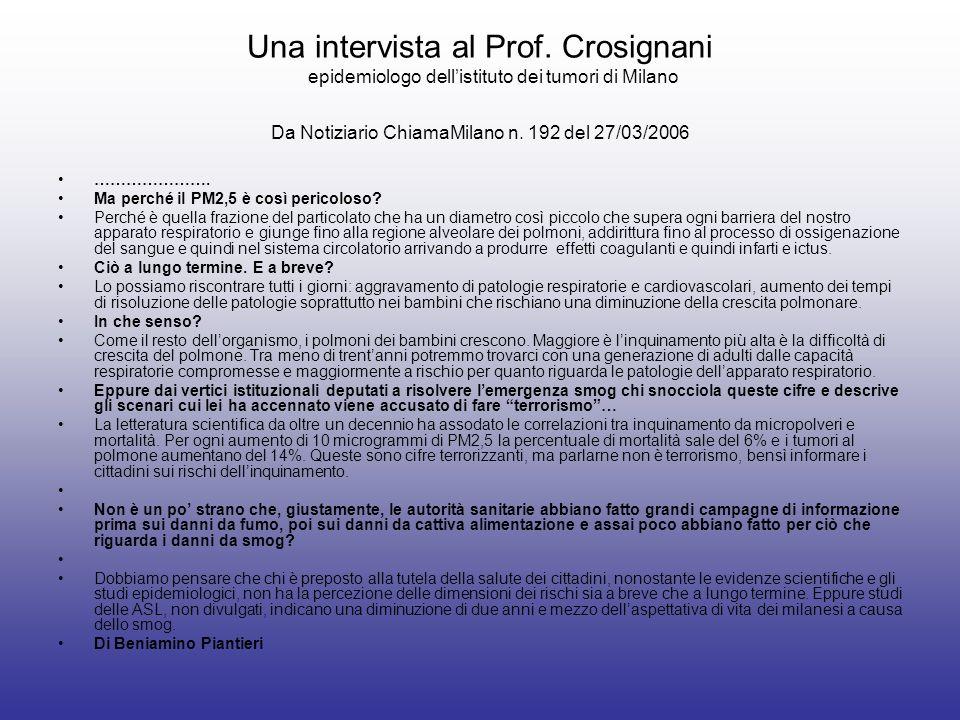 Una intervista al Prof.