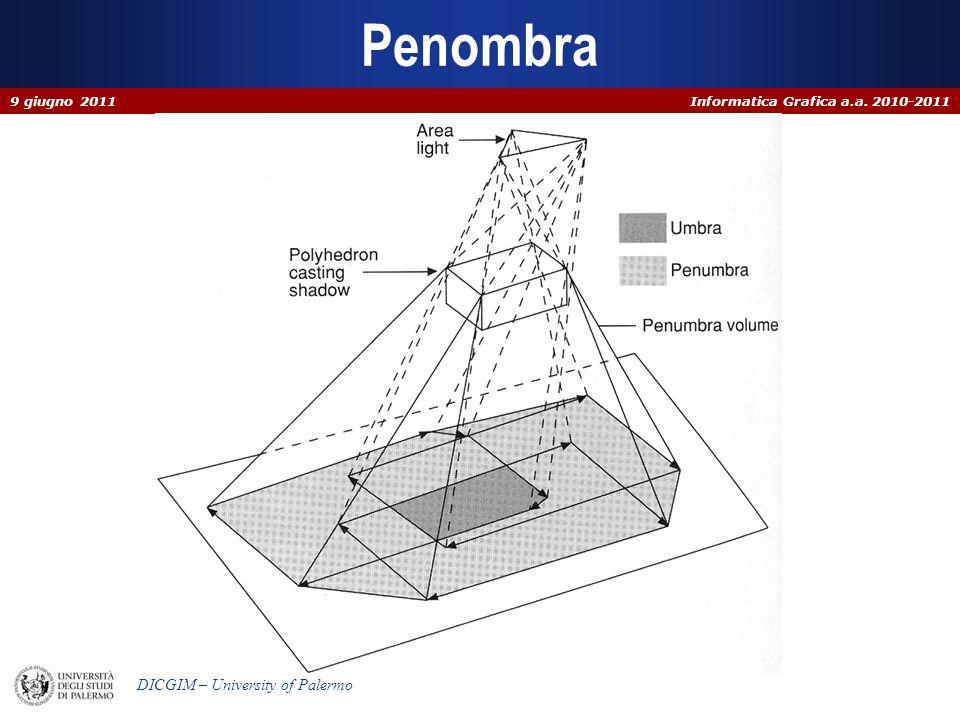 Informatica Grafica a.a. 2010-2011 DICGIM – University of Palermo Penombra 9 giugno 2011