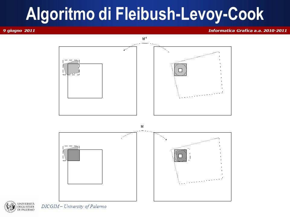 Informatica Grafica a.a. 2010-2011 DICGIM – University of Palermo Algoritmo di Fleibush-Levoy-Cook 9 giugno 2011