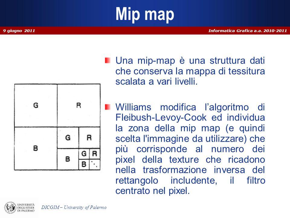 Informatica Grafica a.a.2010-2011 DICGIM – University of Palermo Trasparenza con z-buffer (alg.