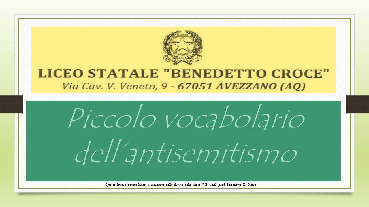 Questo lavoro è stato ideato e realizzato dalle alunne della classe V B e dal prof. Benedetto Di Pietro