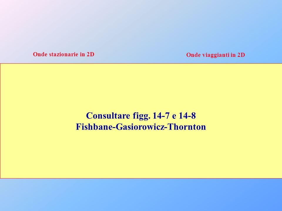 Onde stazionarie in 2D Onde viaggianti in 2D Consultare figg. 14-7 e 14-8 Fishbane-Gasiorowicz-Thornton