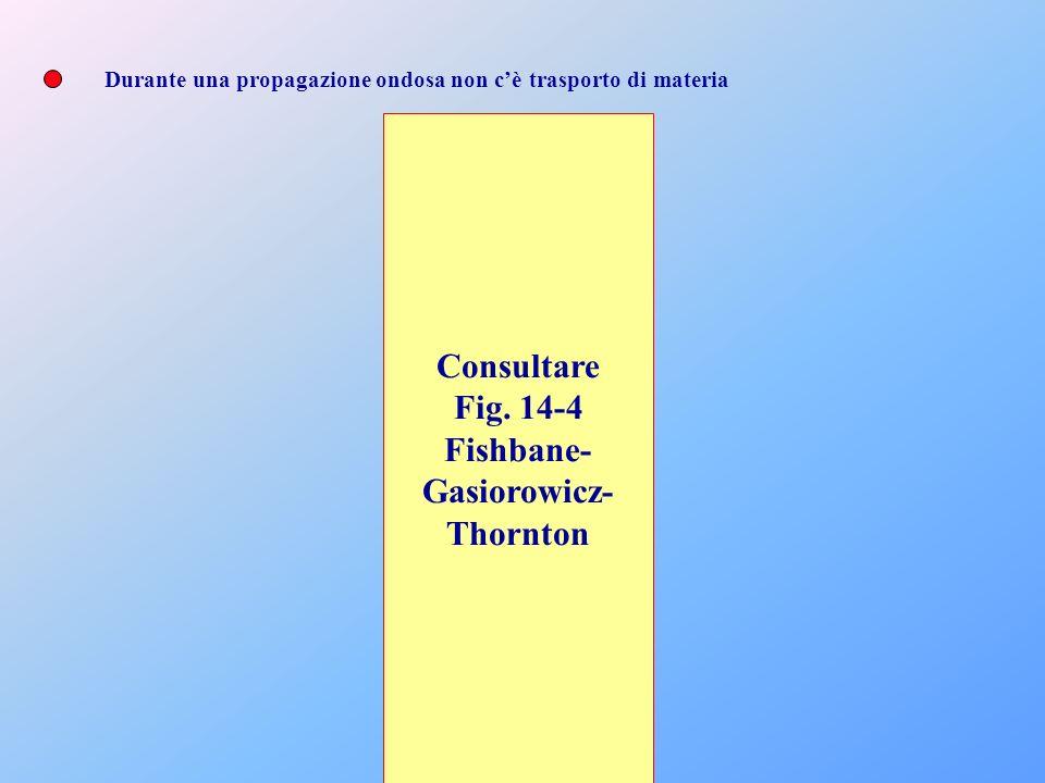 Durante una propagazione ondosa non cè trasporto di materia Consultare Fig. 14-4 Fishbane- Gasiorowicz- Thornton
