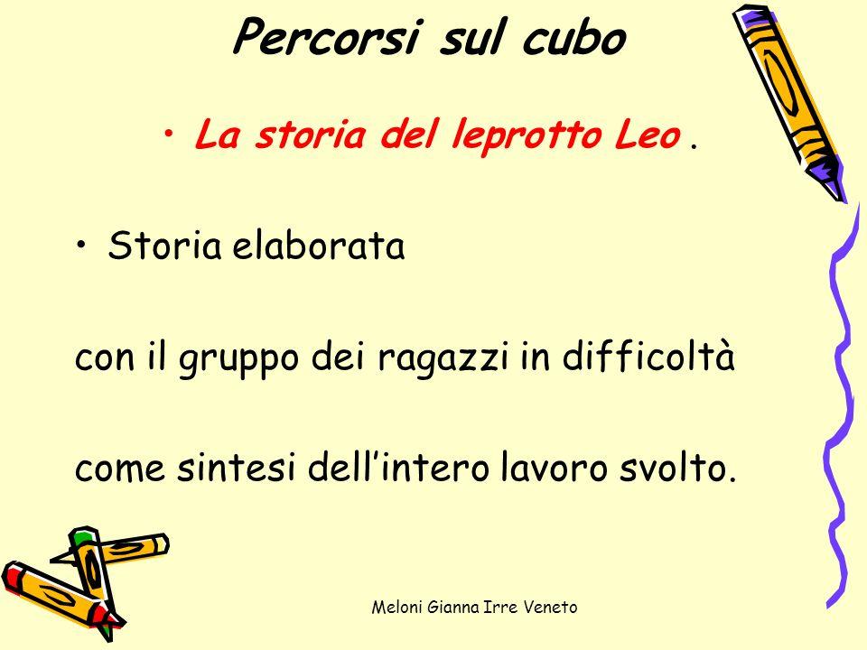 Meloni Gianna Irre Veneto Percorsi sul cubo La storia del leprotto Leo. Storia elaborata con il gruppo dei ragazzi in difficoltà come sintesi dellinte