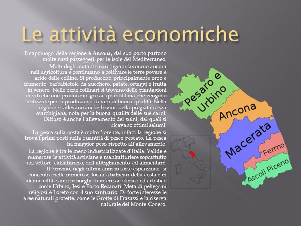 Laspetto fisico Le Marche si trovano nella zona centro orientale della nostra penisola, ad est sono bagnate dal Mar Adriatico. Confinano a nord con lE
