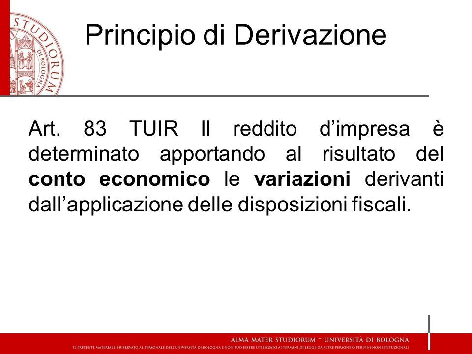 Principio della Previa Imputazione Art.109 c.