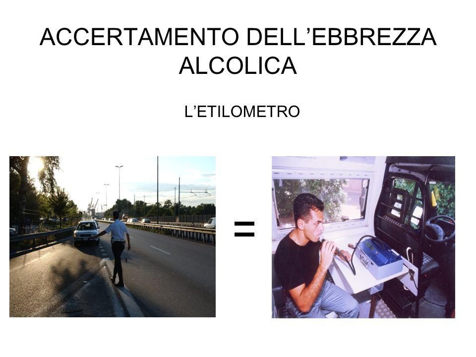 ACCERTAMENTO DELLEBBREZZA ALCOLICA LETILOMETRO