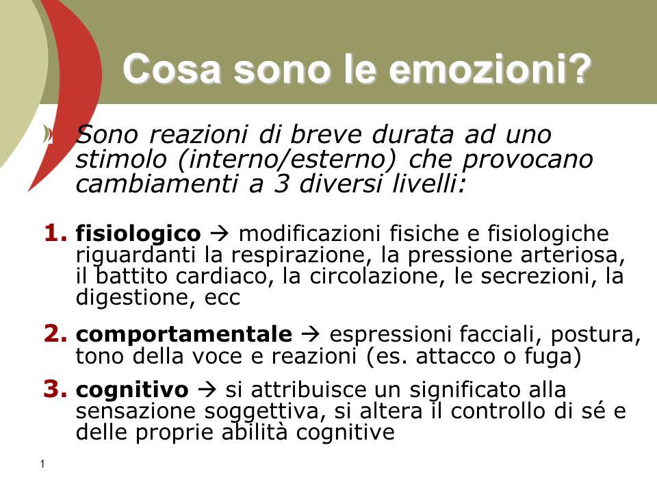 2 Quali emozioni esistono.Damasio [1994, 1999] distingue fra: 1.