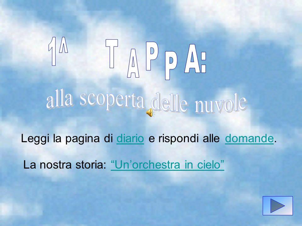 3) Quale genere di nube viene descritta nell ultima frase del Diario.