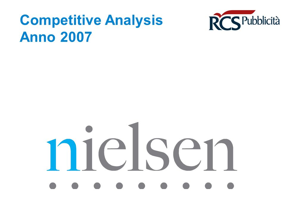 April 30, 2014 Confidential & Proprietary Copyright © 2007 The Nielsen Company Copyright © Nielsen Media Research Page 32 Variazione % N° Annunci Variazione % Formato Medio Annunci - 1,1 + 12,1 - 45,8 Variazione % Annunci in bianco/nero + 19,0 Variazione % Annunci a colori Mix prezzo/spazio + 5,9 Variazione % Advertising - 4,4 Variazione % Prezzo + 10,8 Variazione % Spazio MKT RISTRETTO Comm.Nazionale