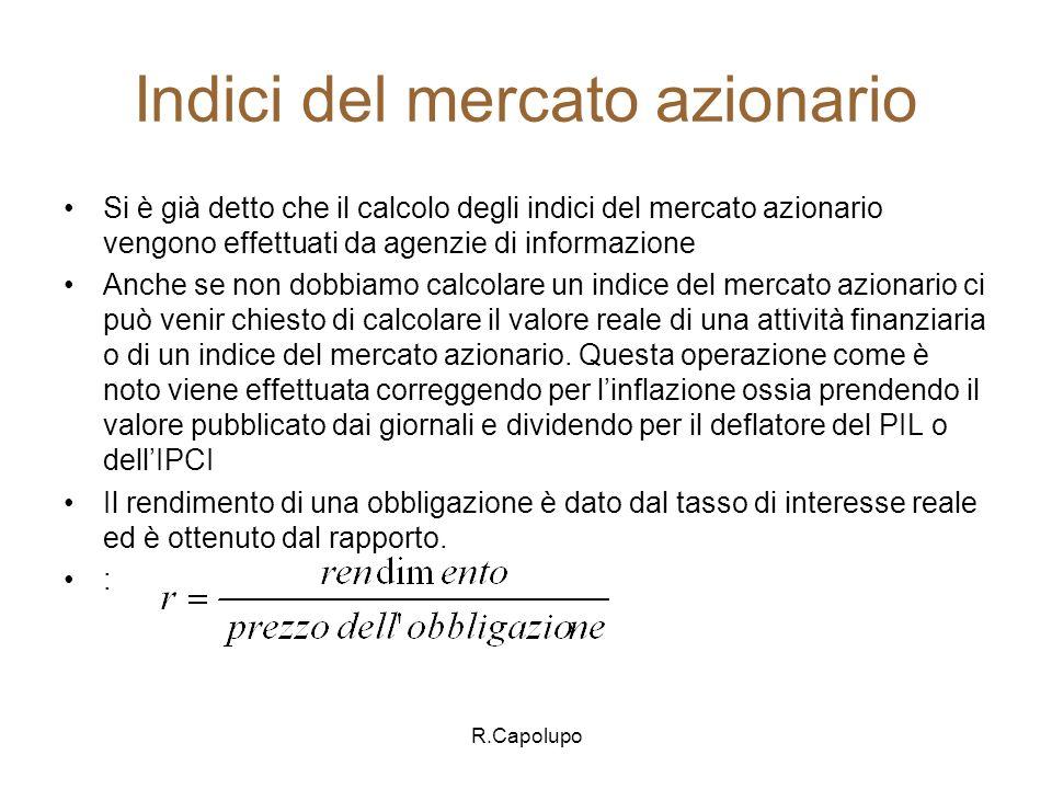 R.Capolupo Metodo del reddito.